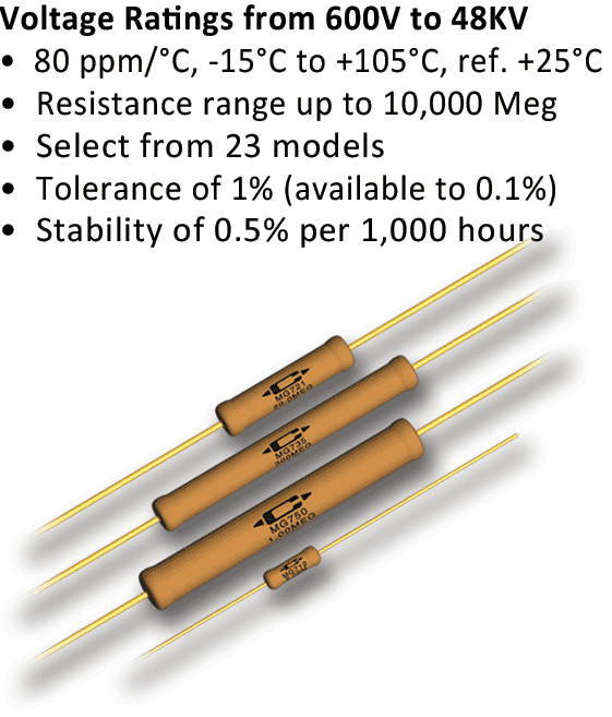 Caddock's Precision High Voltage Resistors
