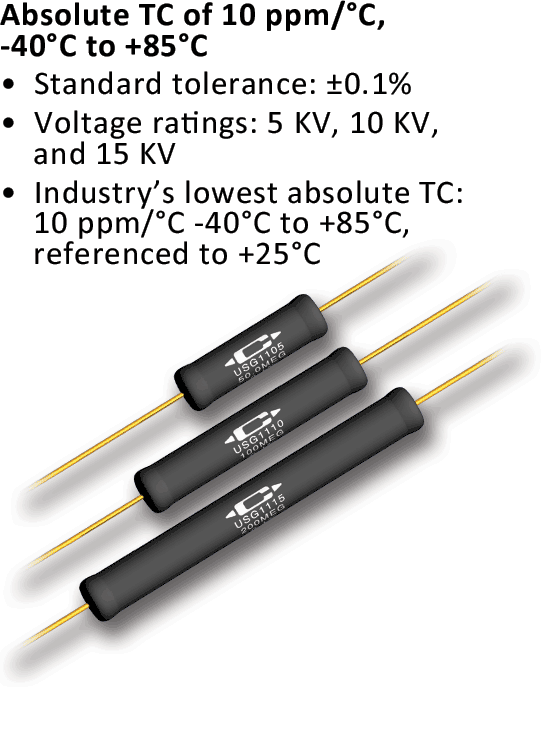 Caddock S Precision High Voltage Resistors