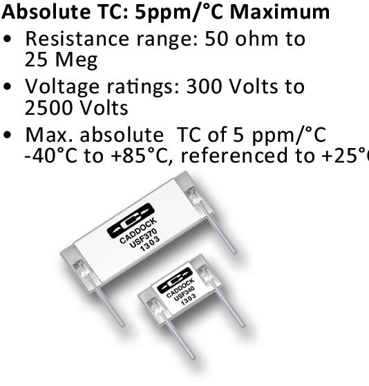 Caddock's Precision High Voltage Resistors